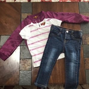 7 for all mankind outfit size 18 months.